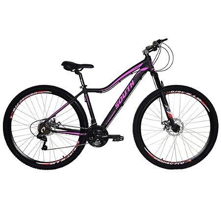 Bicicleta South Schon Aro 29″ ,21 Marchas- Preto e Rosa