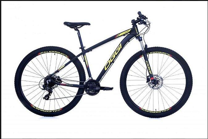 Bicicleta Oggi Hacker HDS Aro 29″, 24 Marchas – Preta e Amarelo