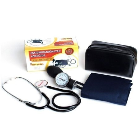 Aparelho De Pressão Velcro Com Estetoscópio Premium