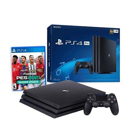 Console PS4 PRO - 1TB + PES 2021 com 2 Anos de Garantia - Sony