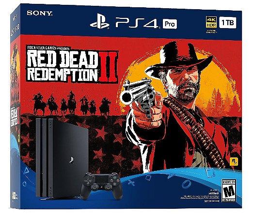 Console PS4 PRO - 1TB + Red Dead Redemption- 2 Anos de Garantia