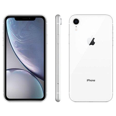 """iPhone XR Apple com 64GB, Tela Retina LCD de 6,1"""", iOS 12, Câmera Traseira 12MP, Resistente à Água e Reconhecimento Facial – Branco"""
