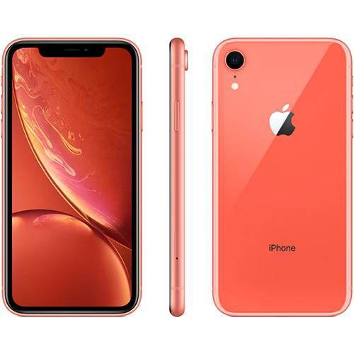 iPhone Xr 64GB Coral IOS12 4G + Wi-fi Câmera 12MP - Apple