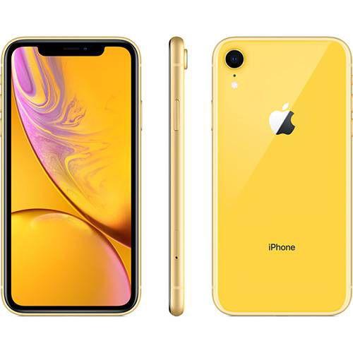 iPhone Xr 64GB Amarelo IOS12 4G + Wi-fi Câmera 12MP - Apple