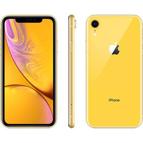 iPhone Xr 128GB Amarelo IOS12 4G + Wi-fi Câmera 12MP - Apple