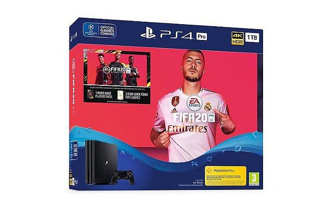PLAYSTATION 4 PRO - FIFA 20 - 2 ANOS DE GARANTIA