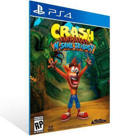 CRASH BANDICOOT N. SANE TRILOGY PS4 PSN Mídia Digital