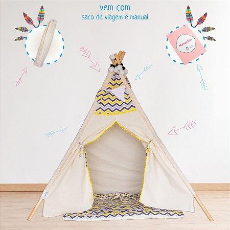 555ed8dd7bec8f Cabana Barraca Infantil Teepee Dente-de-Leão Amarelo