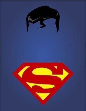 """Placa Decorativa - Coleção Heróis """"Superman"""""""