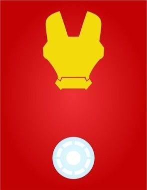 Placas Decorativas Super Herois - Homem de Ferro