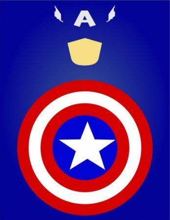 """Placa Decorativa, Coleção Heróis """"Capitão América"""""""