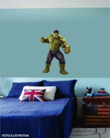 Adesivo de Parede para Quarto Infantil Hulk