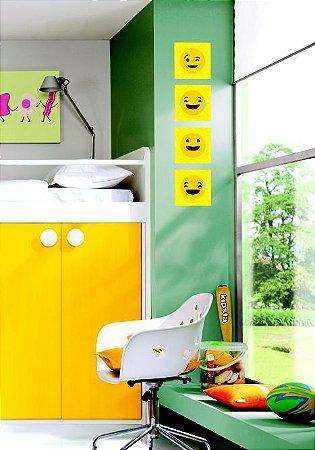 "Kit Placa Decorativa ""Smiley"" 20 x 20cm"