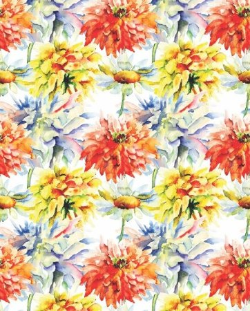 Papel de parede Floral com flores coloridas