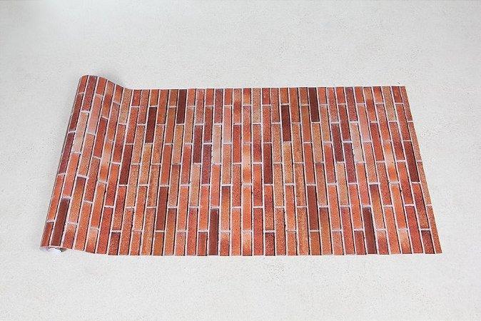 Papel de Parede Tijolos 14,5cm x 2,5cm á Vista