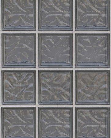 Papel de parede Tijolinhos de Vidro Cinza Escuro