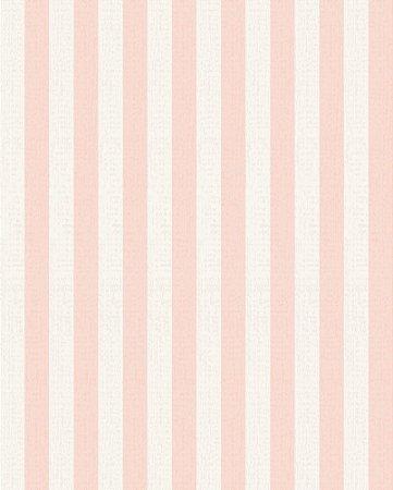 Papel de parede listrado Rosa e Branco