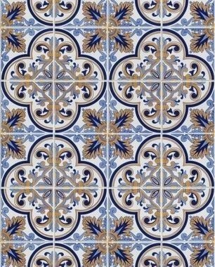 Papel de Parede Azulejo Mojito