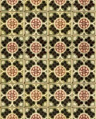 Papel de Parede Azulejo Amarílis