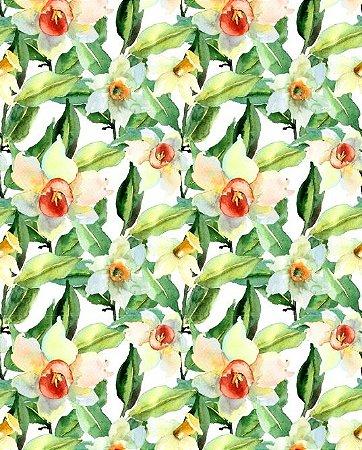 Papel de parede floral com flores claras