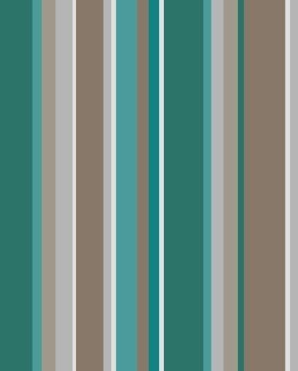 Papel de Parede estilo Listrado, Cinza, Verde e Marrom