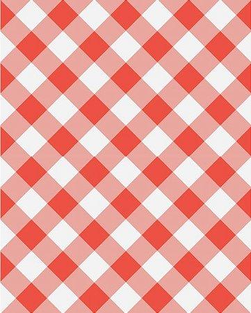 Papel de parede estilo Xadrez Vermelho
