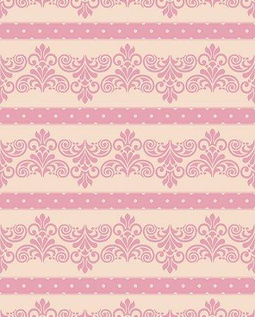 Papel de parede linha Luxurious Bege e Rosa
