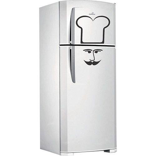 Adesivo decorativo para geladeira Chef