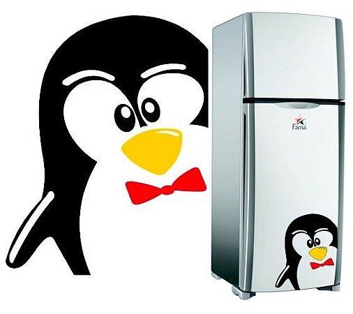 Adesivo Decorativo de Geladeira Pinguin