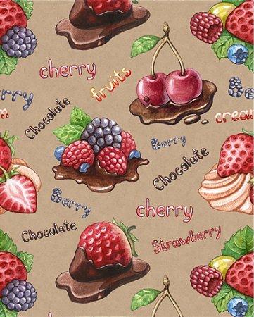 Papel de parede estilo Cozinha Chocolate