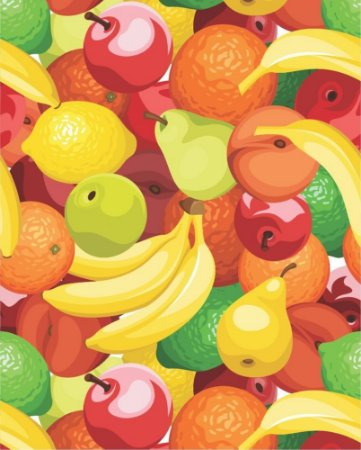 Papel de parede estilo Cozinha Frutas