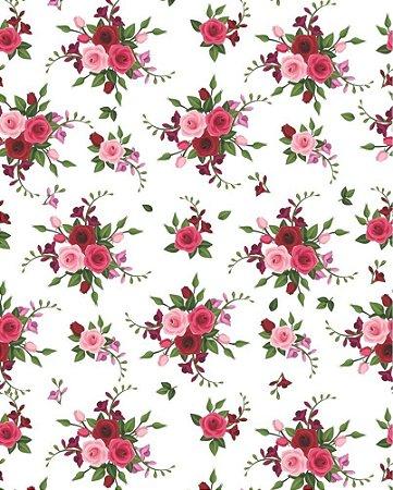 Papel de parede Floral Buquê de Rosas