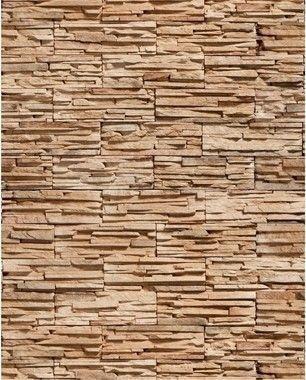 Papel de Parede Pedra Canjiquinha em tons de Marrom
