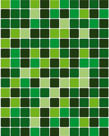 Papel de Parede Pastilhas em tons de Verde - 5cmts