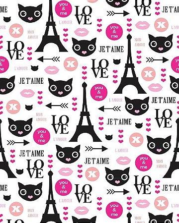 Papel de Parede Estilo Teen Love Paris
