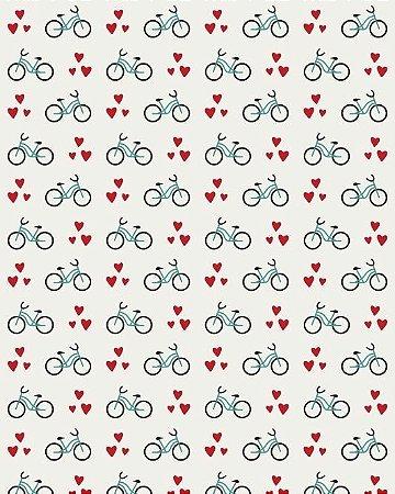 Papel de Parede Estilo Teen Love Bicicleta
