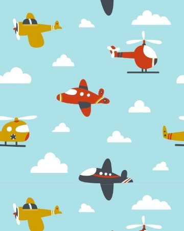 Papel de Parede Estilo Baby Aviões