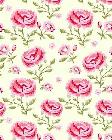 Papel de parede Flor com fundo Amarelinho