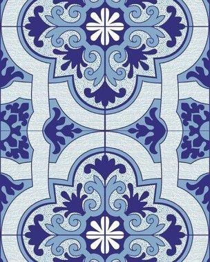 Papel de Parede Azulejo Realeza