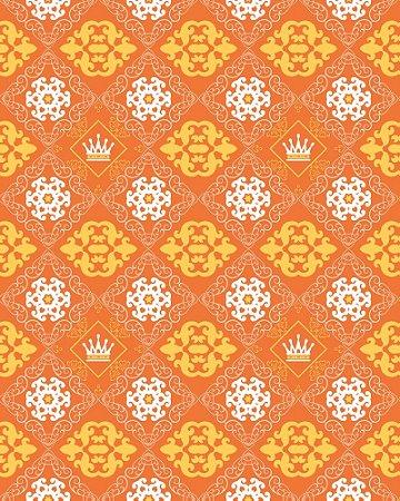 Papel de Parede Damask Orange