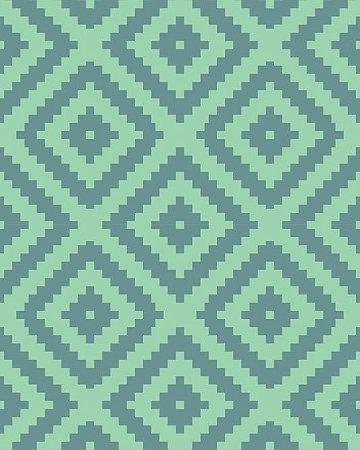 Papel de Parede Estilo Geométrico em tons de Verde