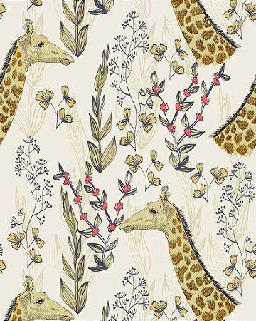 Papel de parede estilo Natura Girafas