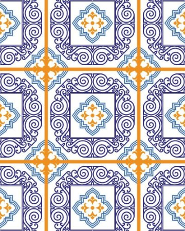 Hidráulico em tons de Azul e Laranja