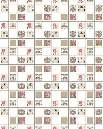 Papel de Parede Estilo Pastilhas - 5 cmts