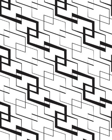 Papel de Parede Estilo Geométrico com traços Preto