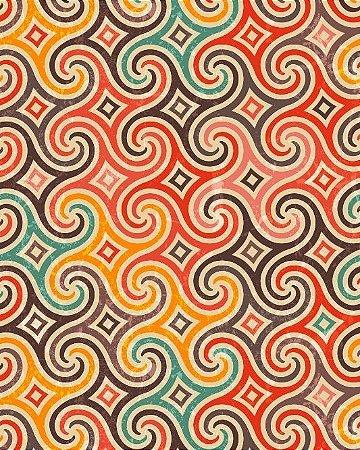 Papel de Parede Estilo Geométrico Colorido