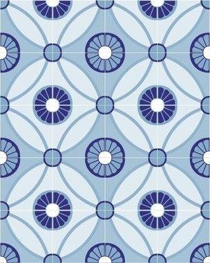 Papel de Parede Azulejo Mónaco