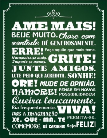 "Placa Decorativa ""AME MAIS"" 24 x 31cm"