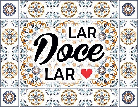 "Placa Decorativa ""Lar Doce Lar"" 24 x 31cm"