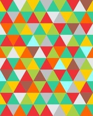 Papel de Parede Geométrico Triângulos Coloridos